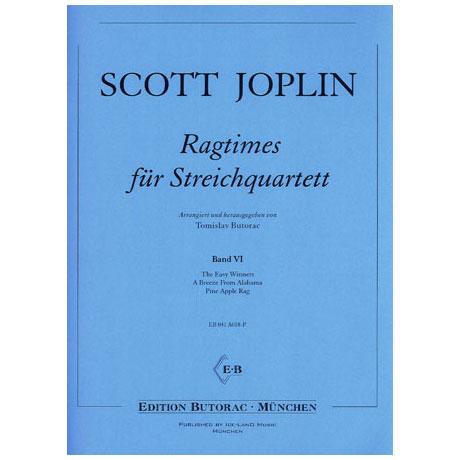 Joplin, S.: Ragtimes für Streichquartett Band 6