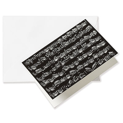 Greeting Card NOTES black