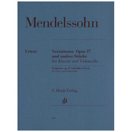 Mendelssohn Bartholdy, F.: Variationen Op. 17 Urtext