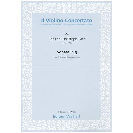 Petz, J. C.: Violinsonata G-Dur