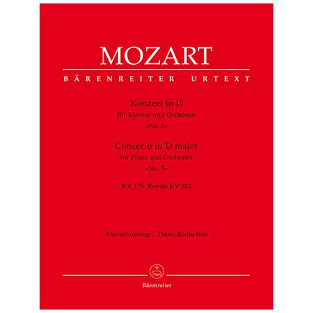 Mozart, W. A.: Klavierkonzert Nr. 5 KV 175 D-Dur, Rondo KV 382