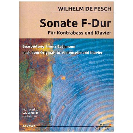 Fesch, W. d.: Kontrabasssonate F-Dur