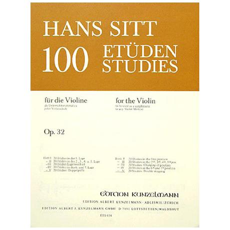 Sitt, H.: 100 Etüden Op. 32 Band 5