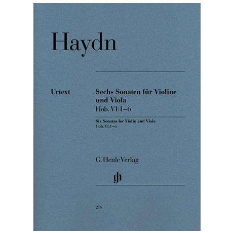 Haydn, J.: 6 Sonaten VI: 1-6