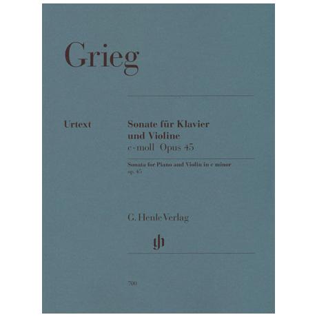 Grieg, E.: Sonate Nr. 3 Op. 45 c-Moll