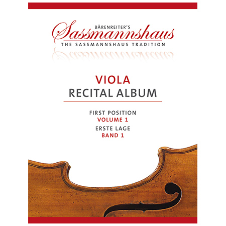 Sassmannshaus: Viola Recital Album Band 1
