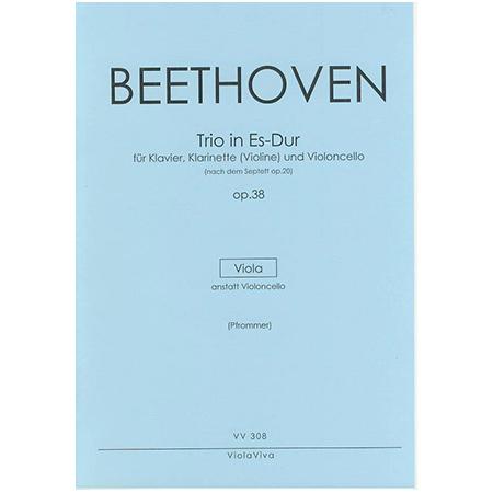 Beethoven, L. v.: Trio für Klarinette (Violine), Viola und Klavier Op. 38 Es-Dur – Violastimme