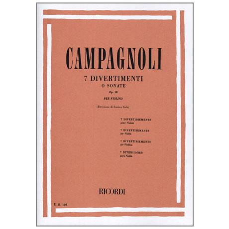 Campagnoli, B.: 7 Divertimenti oder Sonate Op. 18