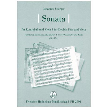 Sperger, J. M.: Sonata, Meier CI/6