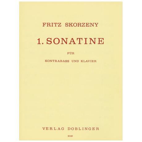 Skorzeny, F.: 1. Kontrabasssonatine