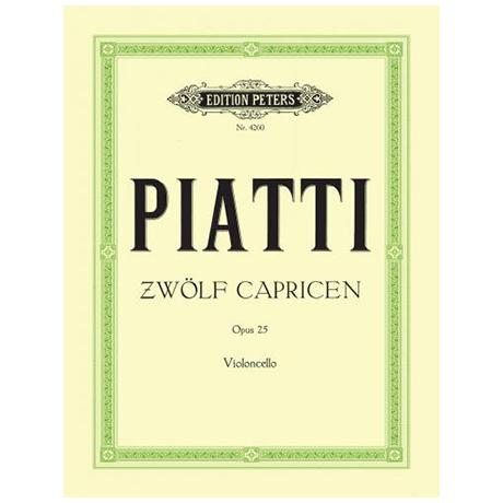 Piatti, A.: Capricen mit Vorübungen Op. 25
