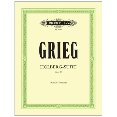 Grieg, E.: Suite »Aus Holbergs Zeit« Op. 40 G-Dur – Partitur