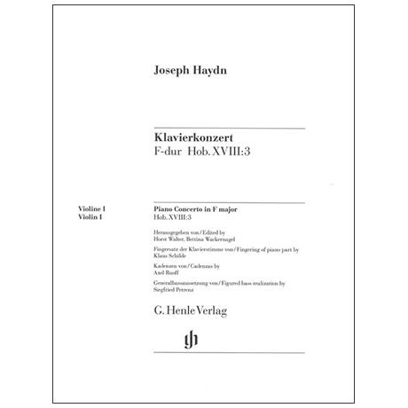 Haydn, J.: Klavierkonzert Hob. XVIII:3 F-Dur – Stimmen