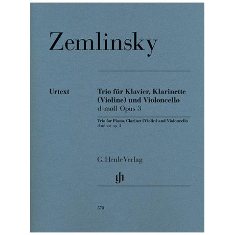 Zemlinsky, A.: Trio Op. 3 d-Moll
