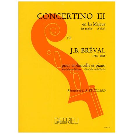 Bréval, J. B.: Concertino Nr. 3 A-Dur