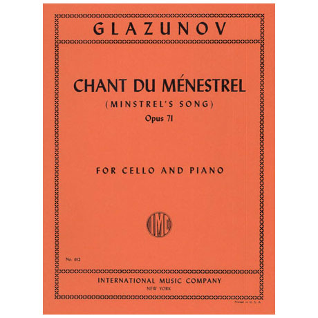 Glasunow, A.: Minstrel´s Song op. 71