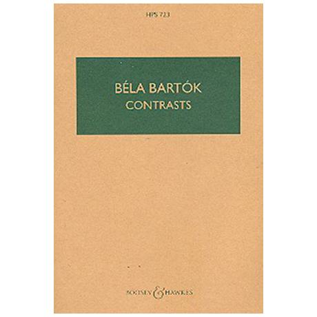 Bartók, B.: Kontraste Sz. 111, BB 116 (1938) – Partitur