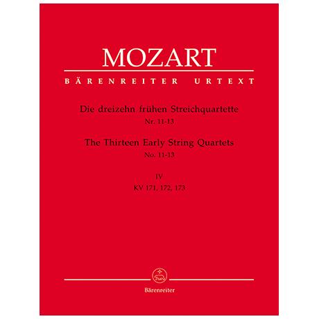 Mozart, W.A.: Die dreizehn frühen Streichquartette Bd.4 KV 171, 172, 173