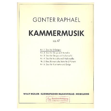 Raphael, G.: Duo Op. 47 Nr. 1