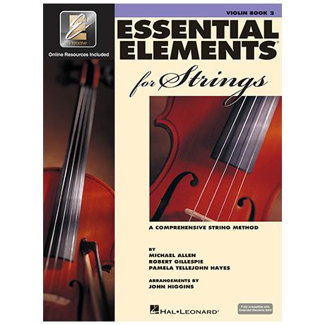 Allen, M./Gillespie, R./Tellejohn Hayes, P.: Essential Elements for Strings 2000 Book 2 (+Online Audio)
