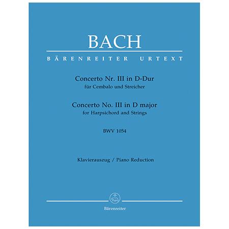 Bach, J. S.: Cembalokonzert Nr. 3 BWV 1054 D-Dur