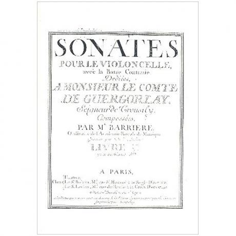 Barriere, J.-B.: Violoncellosonaten Band 1