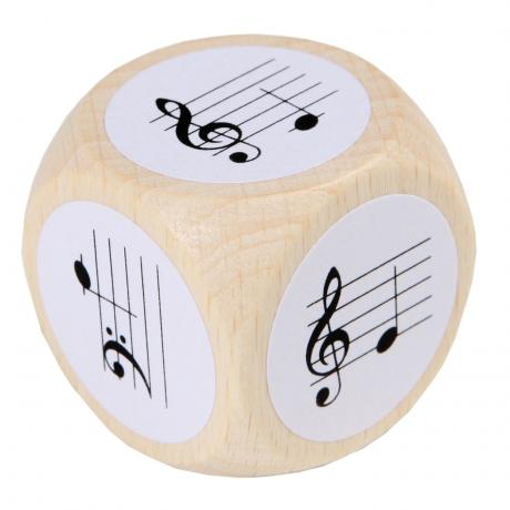 Note Dice with treble- and bass clefs