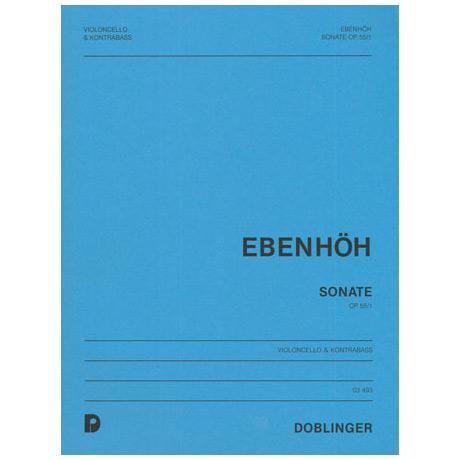 Ebenhöh, H.: Kontrabasssonate Op. 55/1