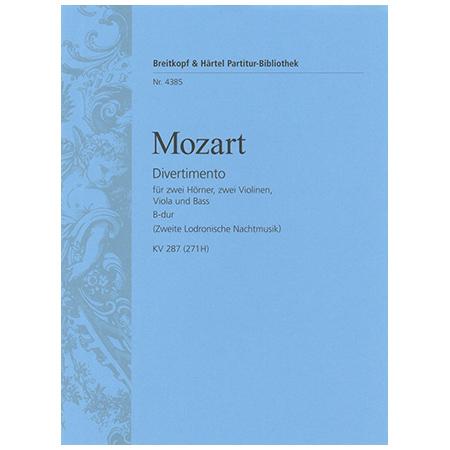 Mozart, W. A.: Divertimento B-Dur KV 287 (271H)