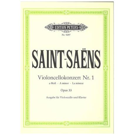 Saint-Saens, C.: Violoncellokonzert Nr. 1 Op. 33  a-moll (Urtext)