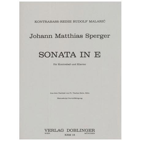 Sperger, J. M.: Kontrabasssonate E-Dur