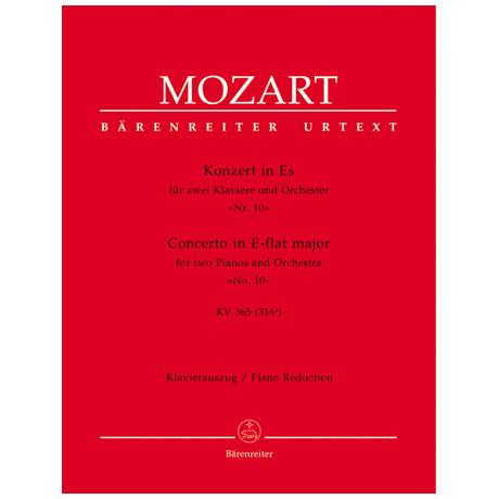 Mozart, W. A.: Klavierkonzert Nr. 10 KV 365 (316a) Es-Dur