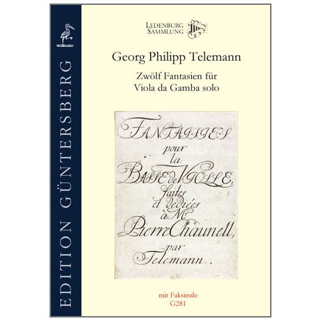Telemann, G. Ph.: 12 Fantasias for Viola da Gamba solo