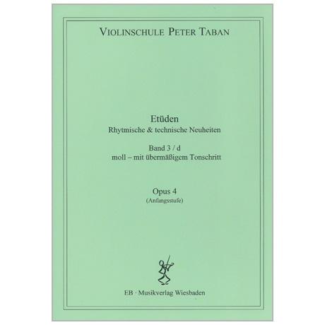 Taban, P.: Etüden Op. 4 – Rhythmische und technische Neuheiten Band 3d (Moll – mit übermäßigem Tonschritt)