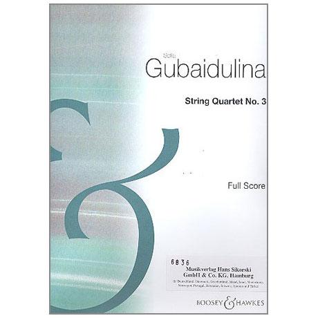 Gubaidulina, S.: Streichquartett Nr. 3