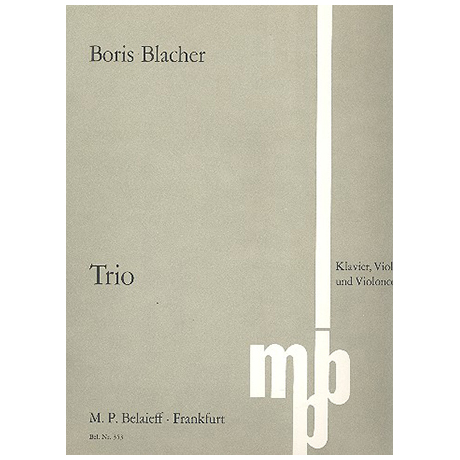 Blacher, B.: Klaviertrio (1973)