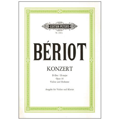 Bériot, Ch. d.: Violinkonzert Nr. 1 Op. 16 D-Dur