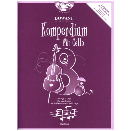 Kompendium für Cello - Band 8 (+CD)