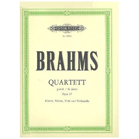 Brahms, J.: Klavierquartett Nr. 1 g-moll, op. 25