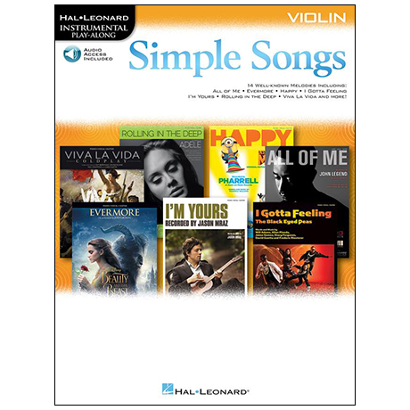 Simple Songs for Violin – 14 bekannte Melodien (+Online Audio)
