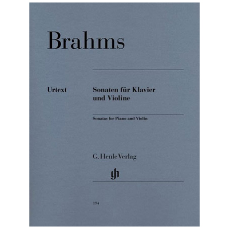 Brahms, J.: 3 Violinsonaten (+ Scherzo)