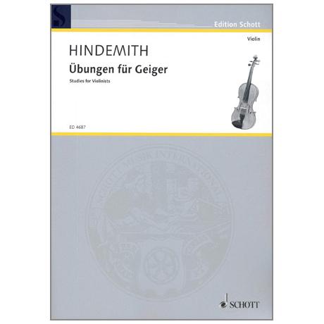 Hindemith, P.: Übungen für Geiger