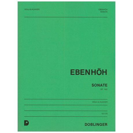Ebenhöh, H.: Violasonate Nr. 2 Op. 19