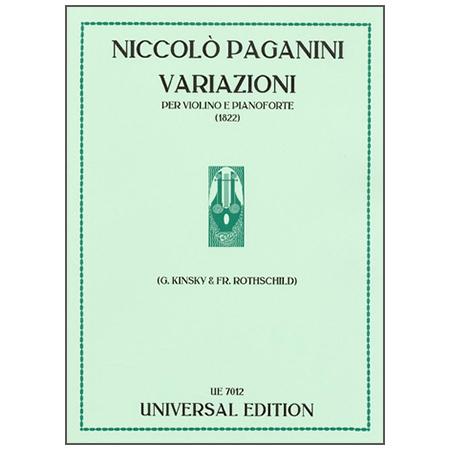 Paganini, N.: Variationen über ein Thema von Giuseppe Weigl