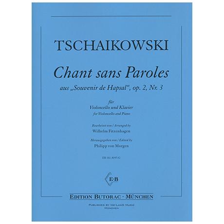 Tchaikovsky, P. I.: Chant sans paroles Op. 2/3
