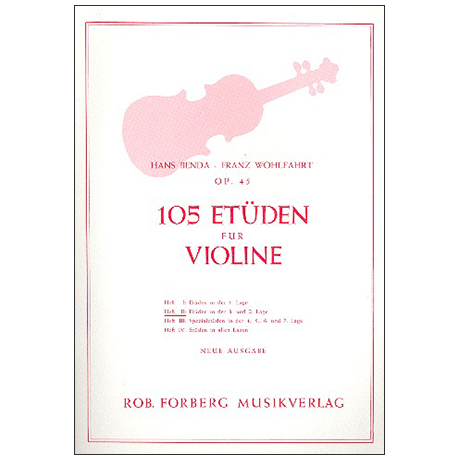 Benda, H./Wohlfahrt F.: 105 Etüden Op. 45 Band 2