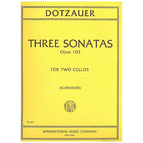 Dotzauer, J. J. F.: 3 Sonaten Op. 103