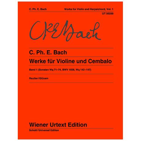 Bach, C. Ph. E.: Werke für Violine und Klavier Band 1