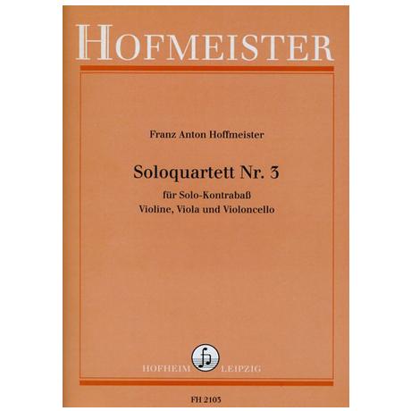 Hoffmeister, F. A.: Solo-Quartette Nr. 3