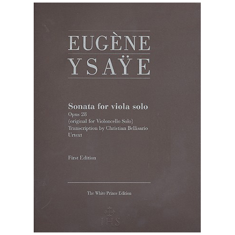 Ysaÿe, E.: Violasonate Op. 28